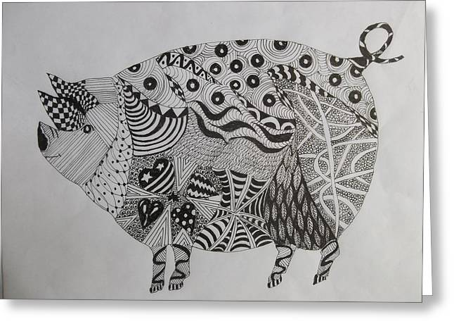 The Zen Pig Greeting Card