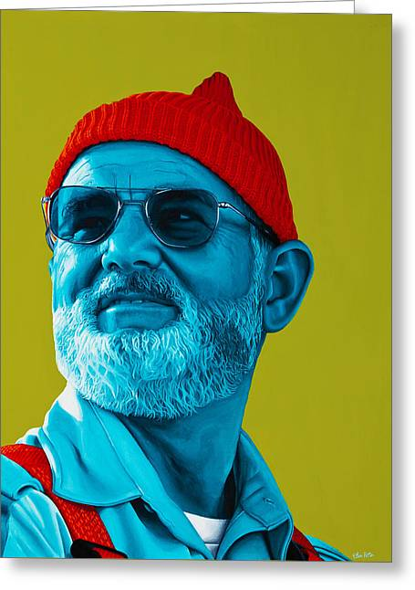 The Zissou- Background Edit Greeting Card by Ellen Patton