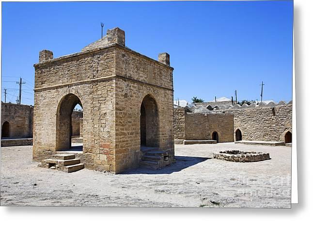 The Zoroastrian Atesgah Fire Temple At Suraxani In Azerbaijan Greeting Card by Robert Preston