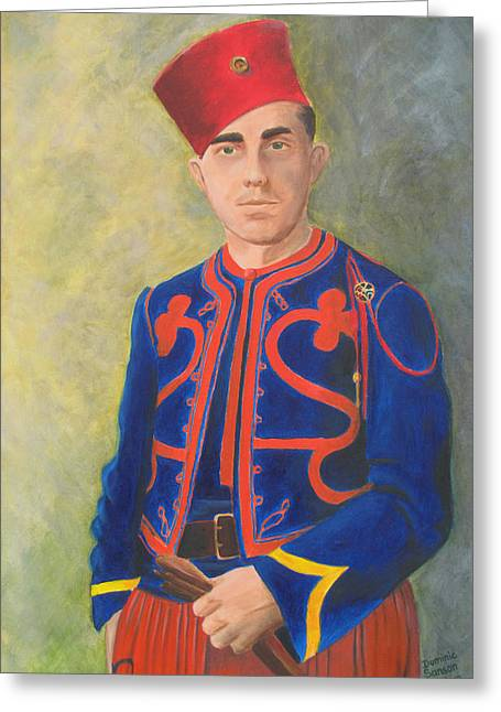 The Zouave Greeting Card by Dominic Sanson