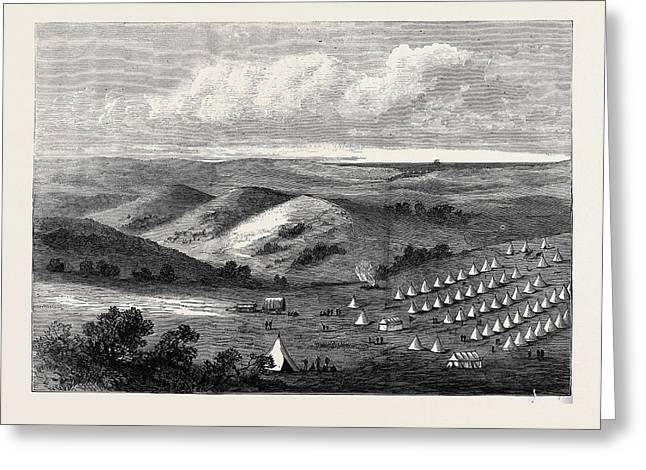 The Zulu War Colonel Pearsons Camp On The Lower Tugela 1878 Greeting Card by English School