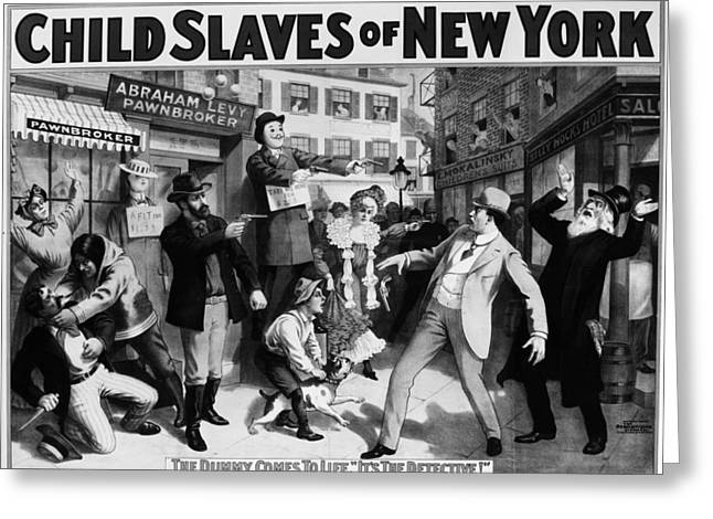 Theater Child Slaves, C1903 Greeting Card