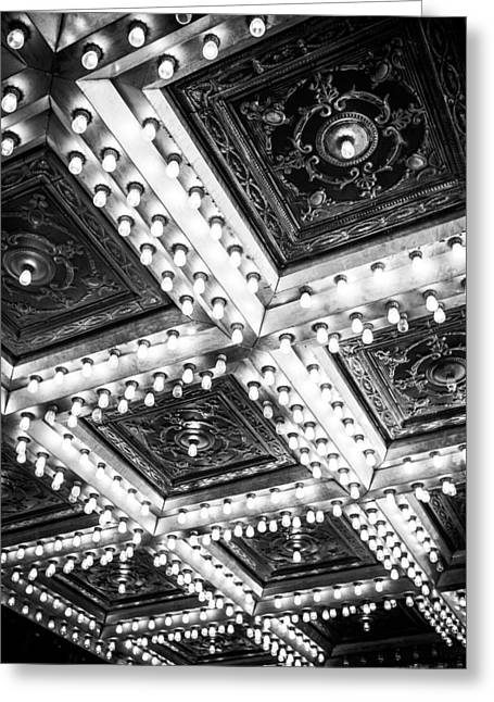 Theater Lights Greeting Card by Melinda Ledsome