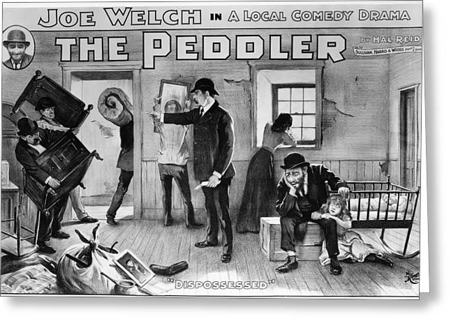 Theater The Peddler, 1902 Greeting Card by Granger