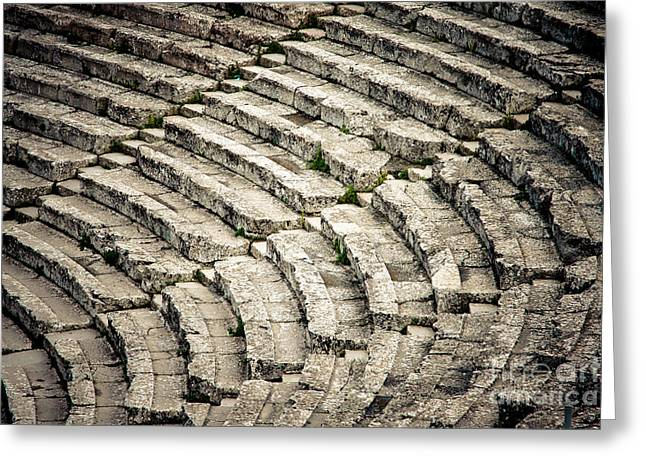 Theatre At Epidaurus Greeting Card by Gabriela Insuratelu