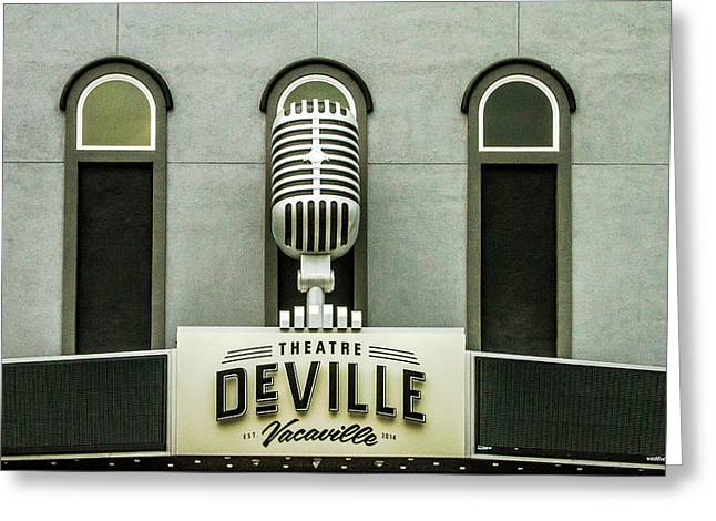 Theatre Deville Greeting Card by Bill Gallagher