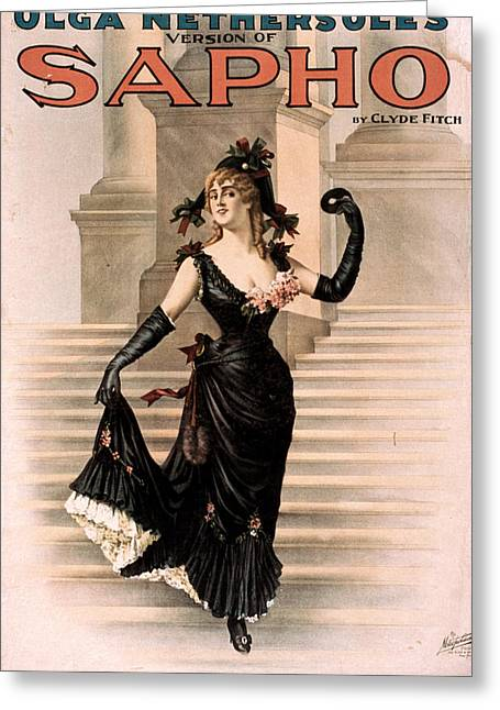 Theatre Sapho, 1900 Greeting Card by Granger