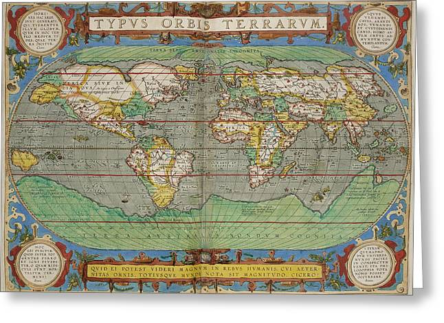 Theatrum Orbis Terrarum Greeting Card by British Library
