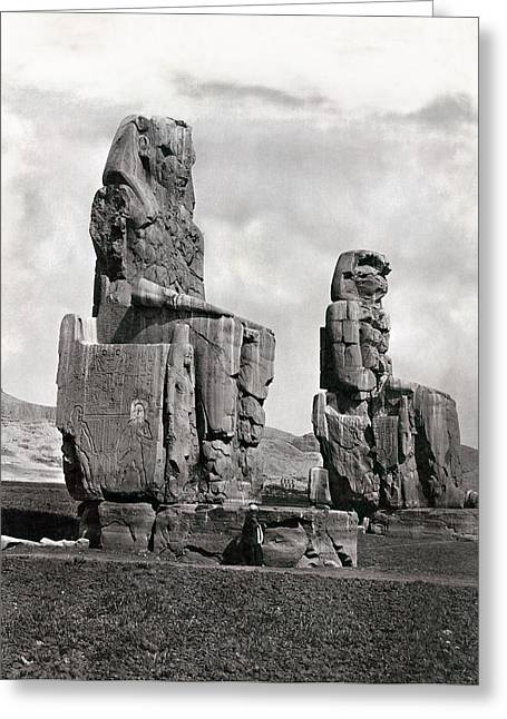 Thebes Colossi Of Memnon Greeting Card by Granger