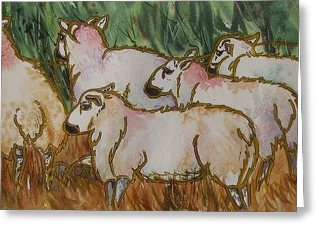 The_grass_is_greener Greeting Card by Nancy Newman