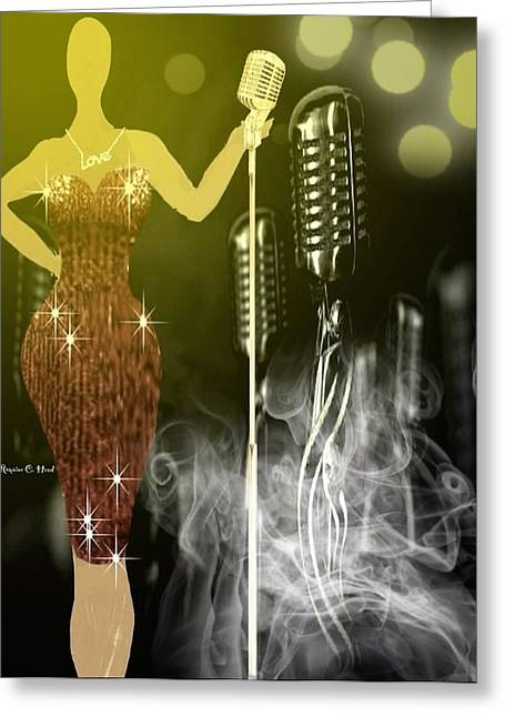 Thejazzsingerchic Greeting Card by Romaine Head
