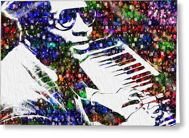 Thelonious Monk Greeting Card by Jack Zulli