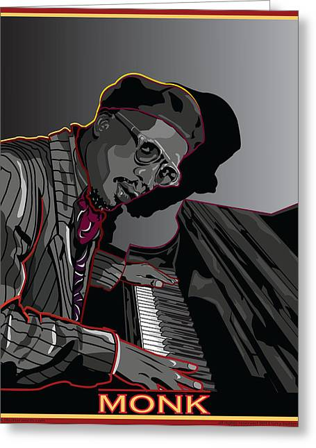 Thelonius Monk Legendary Jazz  Pianist Greeting Card