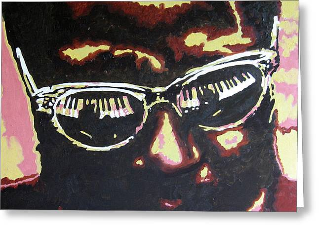 Thelonius Monk Greeting Card by Ronald Young