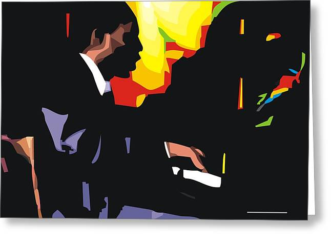Thelonius Monk Greeting Card by Walter Oliver Neal