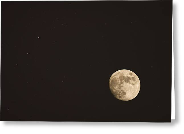 Themoon Greeting Card by Amr Miqdadi