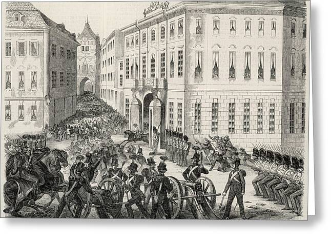(then Bohemia, With Austria) Street Greeting Card by Mary Evans Picture Library