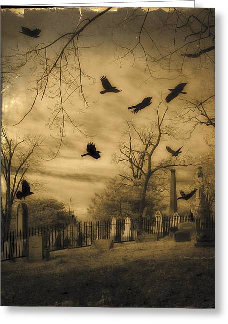 Then There Were Crows Greeting Card