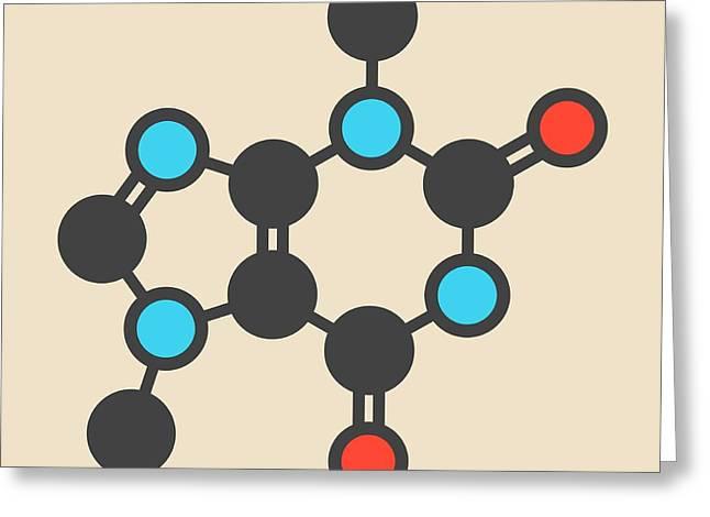 Theobromine Chocolate Alkaloid Molecule Greeting Card by Molekuul