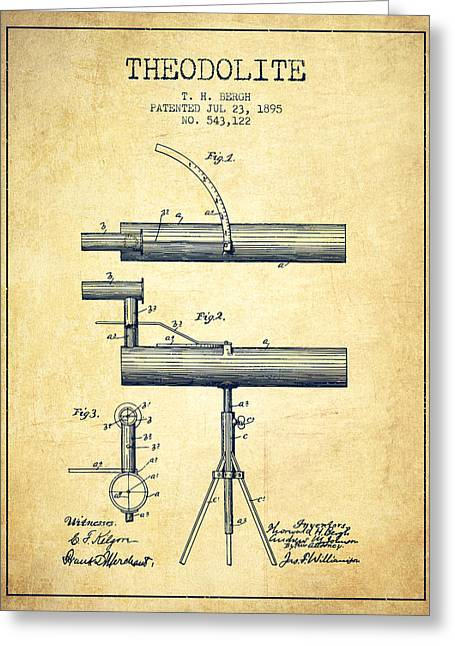 Theodolite Patent From 1895 - Vintage Greeting Card