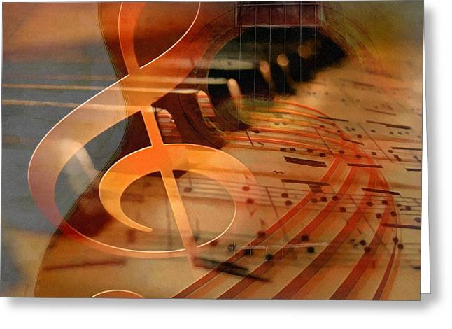 Theoretical Meaning Of Music Greeting Card by Georgiana Romanovna