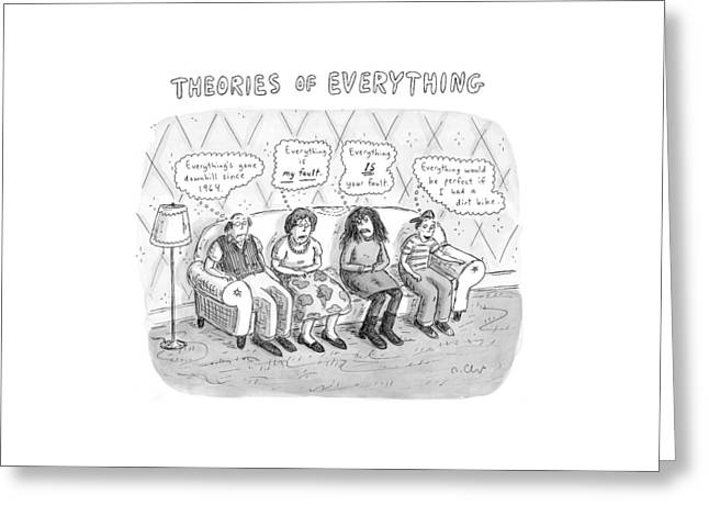 Theories Of Everything: 'everything's Gone Greeting Card by Roz Chast