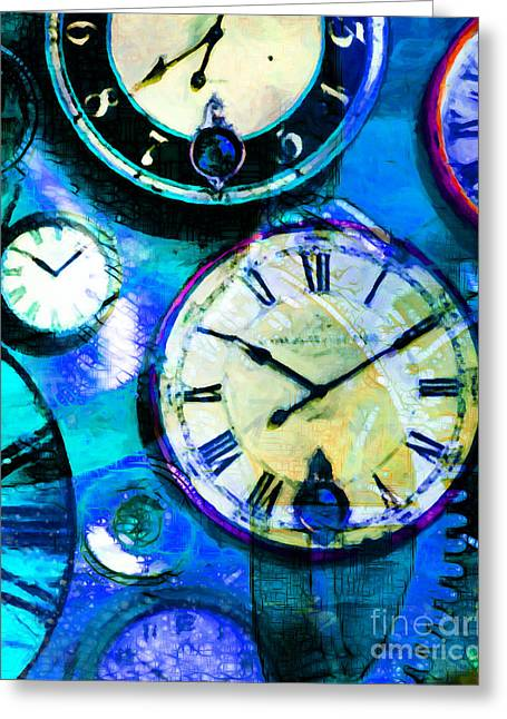 There Is Never Enough Time 5d24472p180 Vertical Greeting Card by Wingsdomain Art and Photography