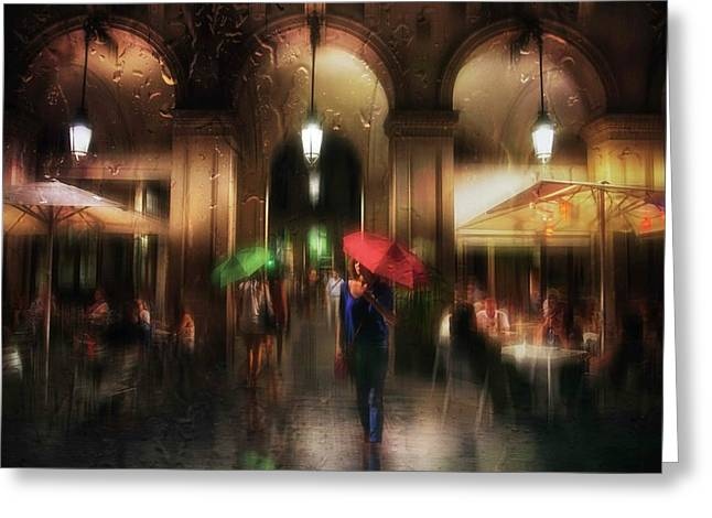 There Is Something In The Rain... Greeting Card by Charlaine Gerber