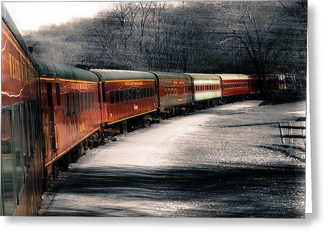 There's A Train A Comin' Somewhere Around The Bend Greeting Card