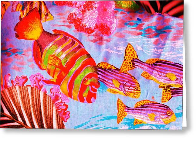 There's Something Fishy Goin' On   Greeting Card by Anne-Elizabeth Whiteway