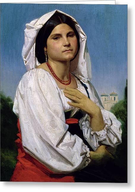 Therese Greeting Card by William-Adolphe Bouguereau