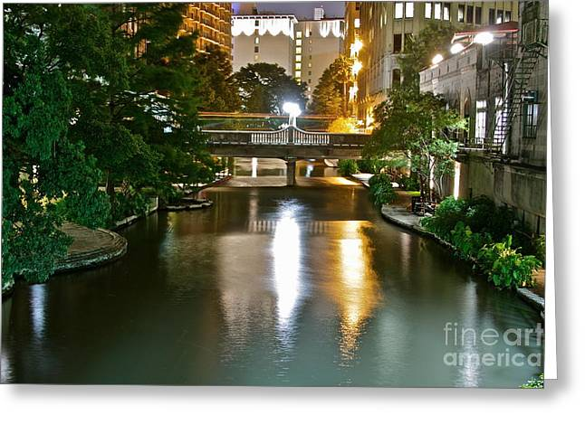 Theriverwalk - No.0275 Greeting Card by Joe Finney