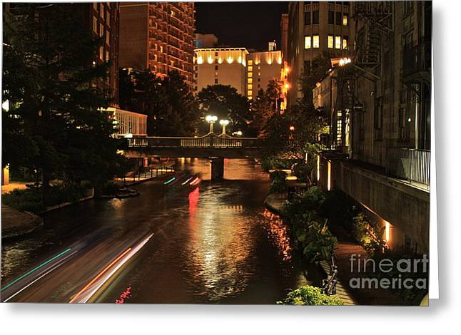 Theriverwalk - No.8511 Greeting Card by Joe Finney