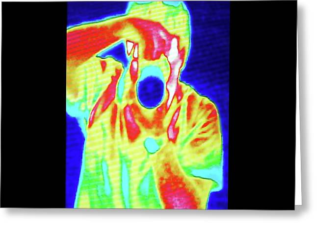 Thermal Camera Self Portrait Greeting Card by Zephyr