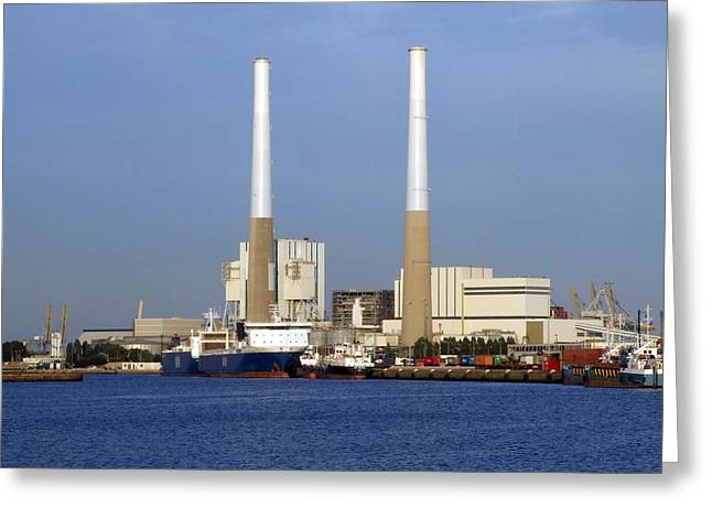 Thermal Power Station, France Greeting Card by Science Photo Library