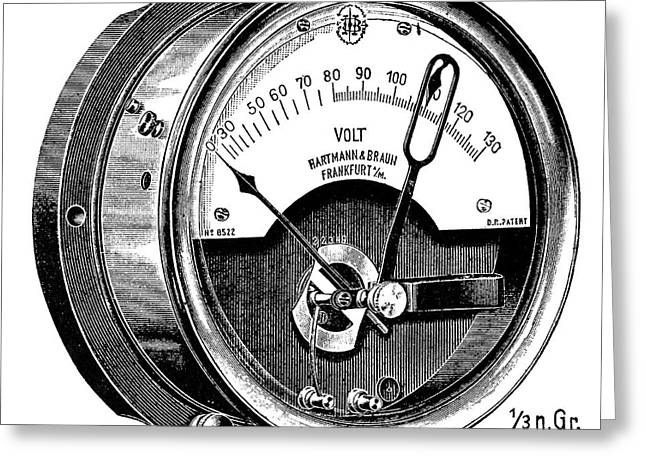 Thermal Voltmeter Greeting Card by Science Photo Library