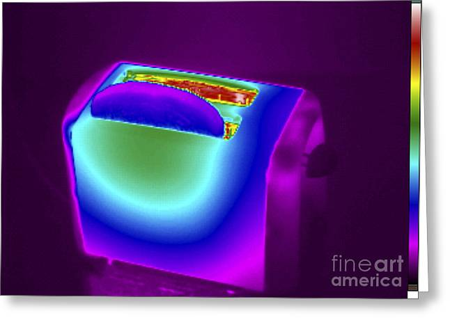 Thermogram Of A Toaster Greeting Card by GIPhotoStock