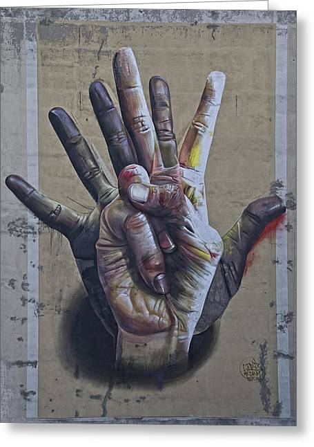 These Are The Hands . . . Greeting Card by Joachim G Pinkawa