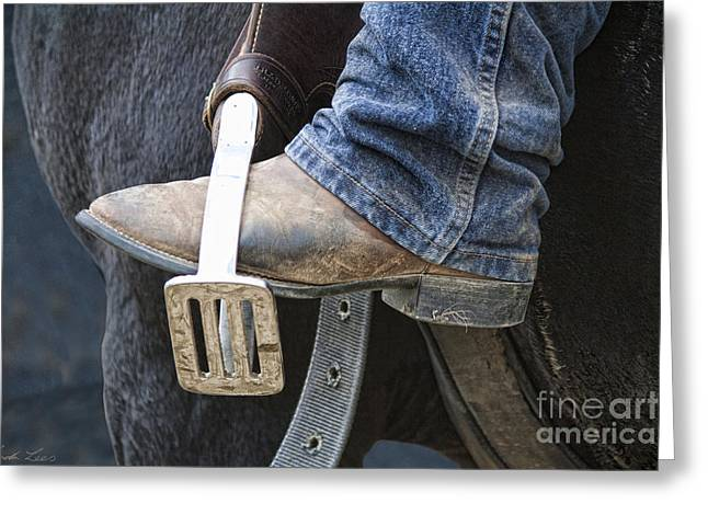 These Boots Are Made For Working Greeting Card by Linda Lees