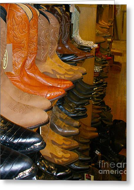 These Boots Greeting Card by B Wayne Mullins