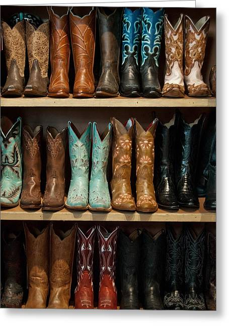 These Boots Were Made For Walking Greeting Card