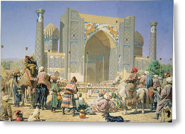 They Are Triumphant, 1871-72 Oil On Canvas Greeting Card by Vasili Vasilievich Vereshchagin