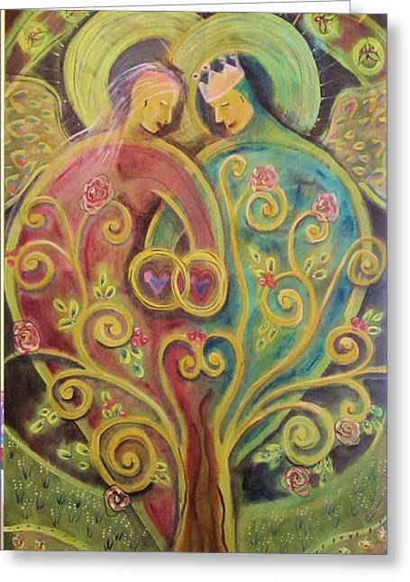 They Grow In Love Greeting Card by Deborah Carlson