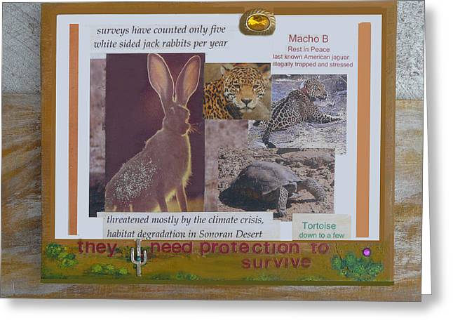 They Need Protection To Survive Greeting Card by Mary Ann  Leitch