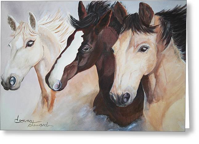 They Run Wild Greeting Card by Donna Steward