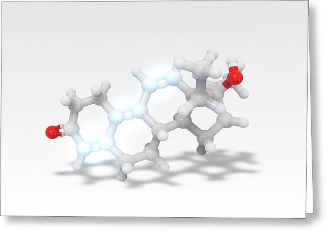 Thg Anabolic Steroid Molecule Greeting Card by Ramon Andrade 3dciencia