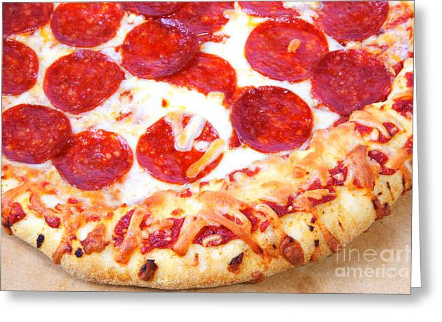 Thick Crust Peperoni Pizza Greeting Card by James BO  Insogna