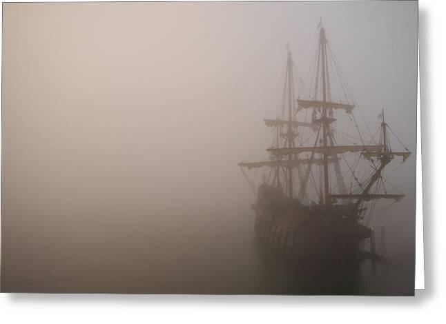 Thick Fog Blankets El Galeon  Greeting Card