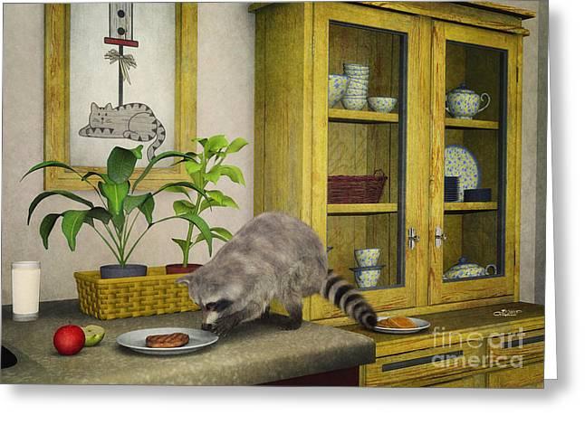 Thief Greeting Card by Jutta Maria Pusl