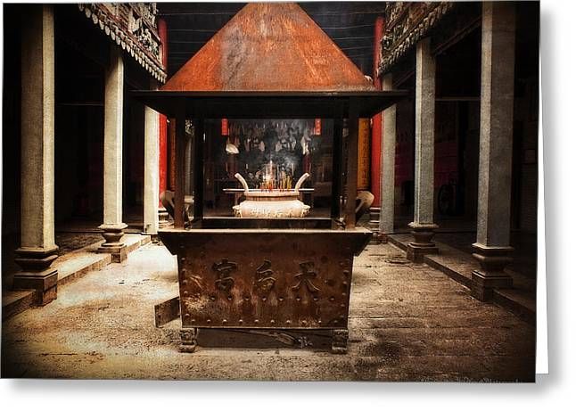 Greeting Card featuring the photograph Thien Hau Temple  by Lucinda Walter